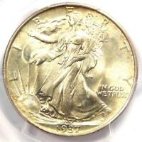1937 WALKING LIBERTY HALF DOLLAR 50C - PCGS MINT STATE 67 PQ PLUS GRADE - $2,450 VALUE