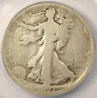 1921-D WALKING LIBERTY HALF DOLLAR 50C - ANACS G4 DETAILS -  CERTIFIED COIN