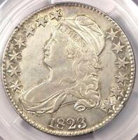 1823 CAPPED BUST HALF DOLLAR 50C - PCGS AU DETAILS -  CERTIFIED COIN