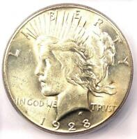 1928 PEACE SILVER DOLLAR $1 - CERTIFIED ICG MINT STATE 63 1928-P KEY DATE - $750 VALUE