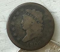 1808 CLASSIC HEAD LARGE CENT LIBERTY VG-