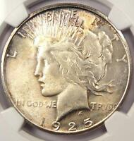 1925-S PEACE SILVER DOLLAR $1 - NGC MINT STATE 63 PQ
