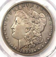 1893 MORGAN SILVER DOLLAR $1 - PCGS AU DETAILS -  CERTIFIED KEY DATE COIN