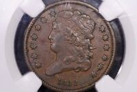 1832 HALF CENT NGC VF 35 2044750 042 STACKS AND BOWERS