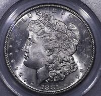 1881 S MORGAN DOLLAR PCGS MS 64 CAC SPL FIELDS