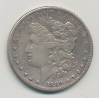 VF 1889 CC MORGAN DOLLAR POSSIBLE OLD CLEANING