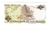 1981   1985 NEW ZEALAND 1 DOLLAR $1 NOTE BANKNOTE P 169A CRISP UNCIRCULATED