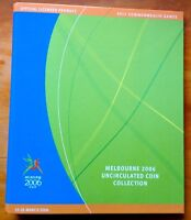2006 50 CENTS COMMONWEALTH GAMES SET OF 18 COINS IN FOLDER A