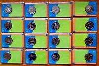 2006 50 CENTS COMMONWEALTH GAMES SET OF 18 COIN   CARDS  AUS