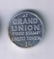 GRAND UNION SUPERMARKET 1 CENT FOOD STAMP NEW JERSEY ALUMINUM PENNY TOKEN