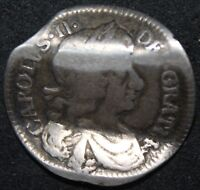 1679 | CHARLES FOURPENCE 'LOVE TOKEN' | SILVER | COINS | KM COINS