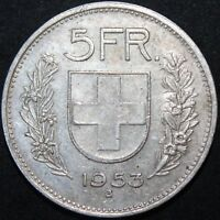 1953 | SWITZERLAND 5 FRANCS | SILVER | COINS | KM COINS