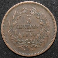1854 | LUXEMBOURG 5 CENTIMES | BRONZE | COINS | KM COINS