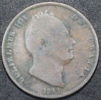 1834 | WILLIAM IV HALF PENNY | COPPER | COINS | KM COINS