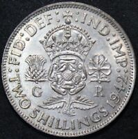 1942 | GEORGE VI TWO SHILLINGS | SILVER | COINS | KM COINS