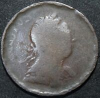 1773 | GEORGE III HALF PENNY 'ROLLED EDGE' | COPPER | COINS | KM COINS