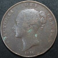 1855 | VICTORIA ONE PENNY | COPPER | COINS | KM COINS