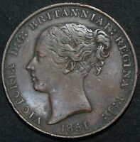 1851 | JERSEY 1/13 OF A SHILLING | COPPER | COINS | KM COINS