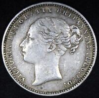 1881 | VICTORIA ONE SHILLING | SILVER | COINS | KM COINS