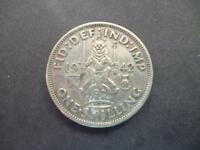 1942 ONE SHILLING COIN THE SCOTTISH TYPE GOOD CIRCULATED CONDITION 50  SILVER.
