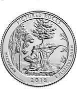 2018 P PICTURED ROCKS NATIONAL LAKESHORE PARK US QUARTER DOLLAR UN CIRCULATED
