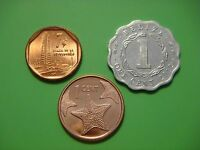 COIN SET OF 1 CENT BAHAMAS 2015 1 CENT BELIZE 2012  1 CENTAVO 2016