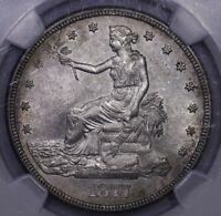 1877 S T$1 TRADE DOLLAR NGC UNC DETAILS