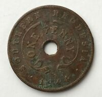 DATED : 1944   SOUTHERN RHODESIA   ONE PENNY   COIN   KING GEORGE VI
