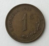 DATED : 1971   RHODESIA   ONE CENT   1C   COIN