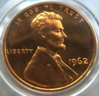 1962 P PROOF LINCOLN MEMORIAL CENT PENNY RED UNCIRCULATED PR RD UNC