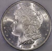 1890 S $1 MORGAN SILVER DOLLAR GEM ICG MS 65 SPL FIELDS