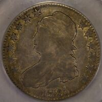 1825 50C CAPPED BUST HALF DOLLAR NICE ANACS GRADED VG8 PROBLEM FREE
