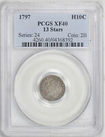 1797 DRAPED BUST H10C PCGS EXTRA FINE  40