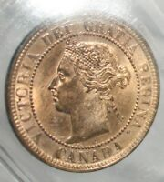 Click now to see the BUY IT NOW Price! CANADA LARGE CENT 1886 ::ICCS MS 65 RED:LANDON OBV 2  :WIDE DATE:::POP. 3::