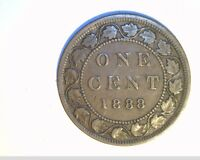 1888 CANADA 1 PENNY HIGH GRADE CIRCULATED BRONZE COIN  CAN 518