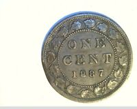 1887 CANADA 1 PENNY HIGH GRADE CIRCULATED BRONZE  CAN 538