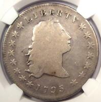 1795 FLOWING HAIR SILVER DOLLAR $1 COIN - CERTIFIED NGC VG DETAIL -  COIN