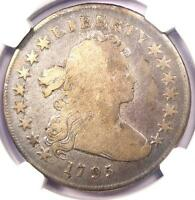 1795 DRAPED BUST SILVER DOLLAR $1 COIN, SMALL EAGLE, BB-52 B-15 NGC VG DETAILS