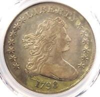 1798 DRAPED BUST SILVER DOLLAR $1 - PCGS VF DETAILS -  COIN - LOOKS EXTRA FINE