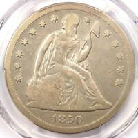 1850-O SEATED LIBERTY SILVER DOLLAR $1 - PCGS VF20 -  EARLY DATE COIN
