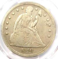 1846-O SEATED LIBERTY SILVER DOLLAR $1 - CERTIFIED PCGS FINE DETAIL -  COIN
