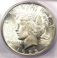 1923-S PEACE SILVER DOLLAR $1 - CERTIFIED ICG MINT STATE 64 -  IN MINT STATE 64 - $375 VALUE