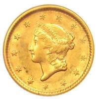 1851 LIBERTY GOLD DOLLAR COIN G$1 - CERTIFIED ANACS AU55 -  COIN