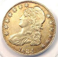 1834 CAPPED BUST HALF DOLLAR 50C - CERTIFIED ANACS AU50 DETAILS -  COIN