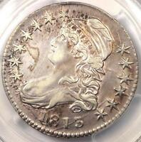 1813 CAPPED BUST HALF DOLLAR 50C - PCGS EXTRA FINE  DETAILS EF -  CERTIFIED COIN