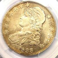 1833 CAPPED BUST HALF DOLLAR 50C - PCGS EXTRA FINE  DETAILS EF -  CERTIFIED COIN