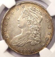 1836 CAPPED BUST HALF DOLLAR 50C O-120 - NGC EXTRA FINE 40 EF40 PQ -  LUSTER