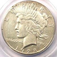 1928 PEACE SILVER DOLLAR $1 - ANACS AU50 DETAILS -  1928-P KEY DATE COIN