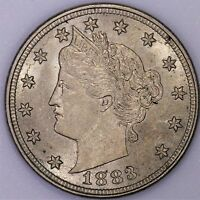 1883 5C NO CENTS LIBERTY NICKEL CHOICE BU