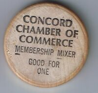 CONCORD CHAMBER OF COMMERCE MEMBERSHIP MIXER WOODEN NICKEL BUFFALO